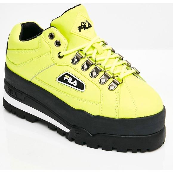fila shoes neon green